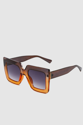PopBae Women's Square Sunglasses In Sienna And Orange Ombre