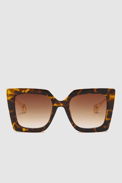PopBae Women's Retro Cat Sunglasses With Pearl Detail In Tortoise