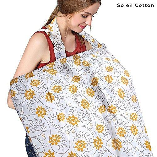 Motherly Nursing Cover - Yellow Flower print