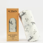 Baby Swaddle Blanket - Elephant Deer
