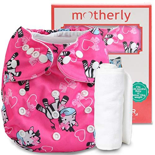 Motherly Reusable Cloth Diaper with 1 Insert - Pattern-D13
