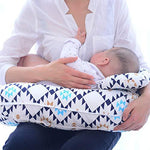 Motherly Nursing Pillow (Blue Geometry)
