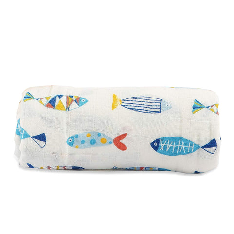Motherly Baby Swaddle Blanket - Multicolor Fish