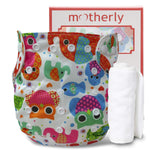 Motherly Reusable Cloth Diaper for Babies with 1 Insert - Pattern-D20