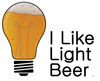 I Like Light Beer Lite bulb Short-Sleeve Unisex T-Shirt (7 Colors)