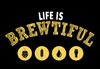 Life Is Brewtiful Short Sleeve Unisex T-shirt - White/Gold Print (5 Colors)