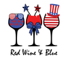 Red Wine and Blue Women's Tank Top 4th Of July (6 Colors)