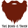 This Beard Is Taken Short Sleeve Unisex T-shirt Red Print (3 Colors)