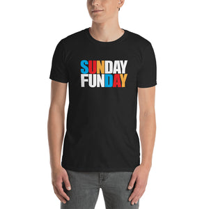 Sunday Funday Shirt | Funny Drinking T-shirt | Bar Party Short Sleeve Unisex T-shirt (4 Colors)