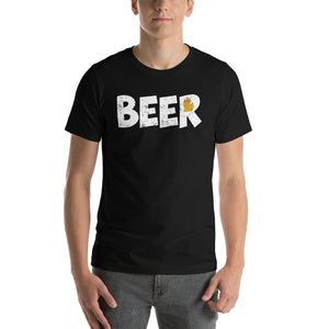 Textured Print Michigan Beer Short-Sleeve Unisex T-Shirt (8 Colors)