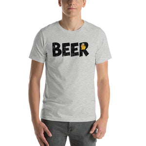 Textured Print Michigan Beer Short-Sleeve Unisex T-Shirt (7 Colors)