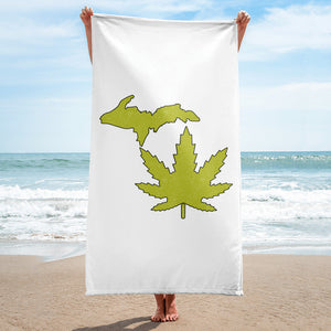 Michigan Marijuana Beach Towel