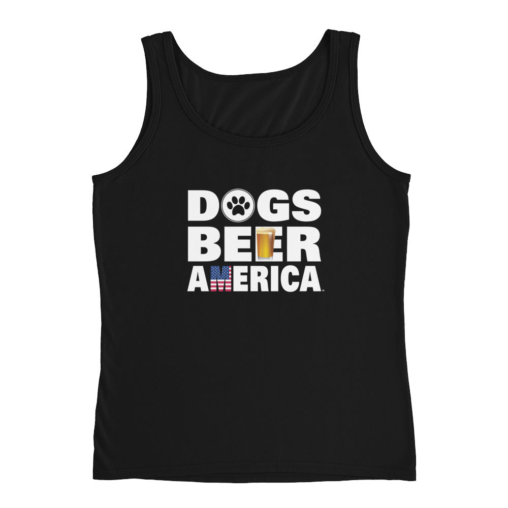 Dogs Beer America Black Ladies' Tank