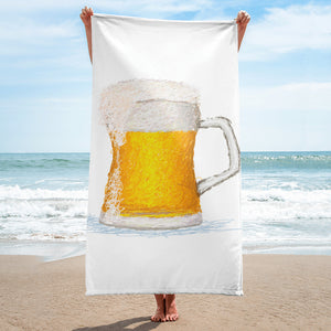 Beer Mug Scribble Beach Towel