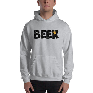 Textured Print Michigan Beer Hooded Sweatshirt (4 Colors)