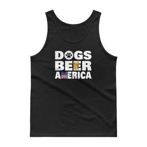 Dogs Beer America Black Tank top