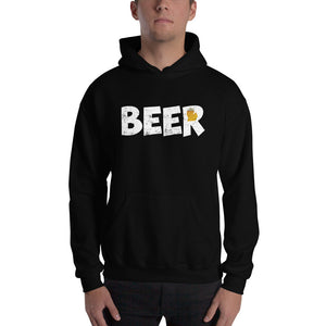 Textured Print Michigan Beer Hooded Sweatshirt (3 Colors)