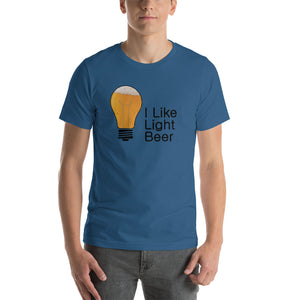 I Like Light Beer Lite bulb Short-Sleeve Unisex T-Shirt (8 Colors)