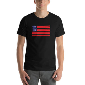 Beer Mug American Flag Short-Sleeve Unisex T-Shirt (12 Colors)