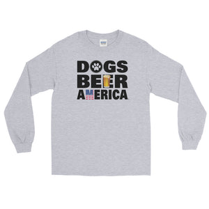 Dogs Beer America Long Sleeve T-Shirt (5 Colors)