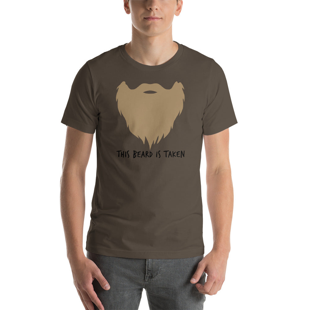 This Beard Is Taken Short Sleeve Unisex T-shirt Blonde Print (5 Colors)