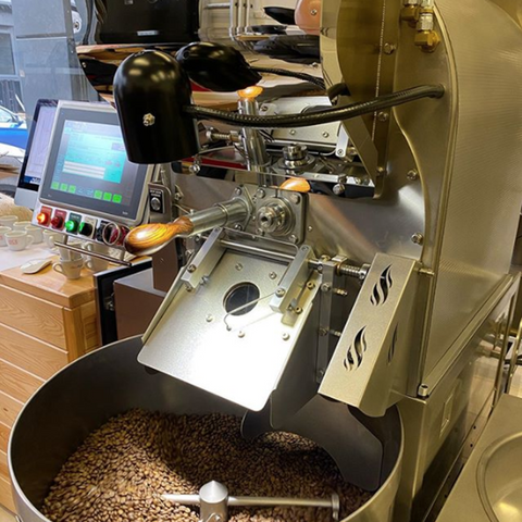 Our Loring Coffee Roaster in action