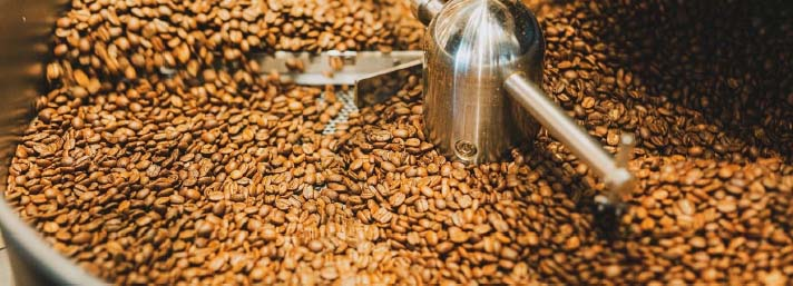 Coffee beans cooling down
