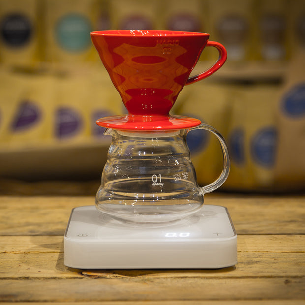 Hario V60 Ceramic Coffee Dripper Red 01