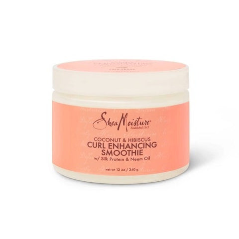 SheaMoisture Smoothie Curl Enhancing Cream for Thick Curly Hair Coconut and Hibiscus