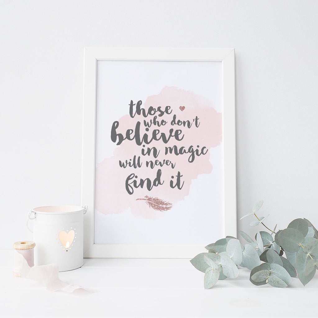 Believe in Magic (Pink)