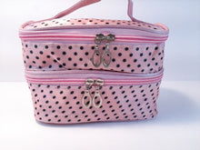PINK AND BLACK POLKA DOT BAG