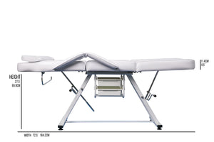 FACIAL BED MANUALLY ADJUSTABLE
