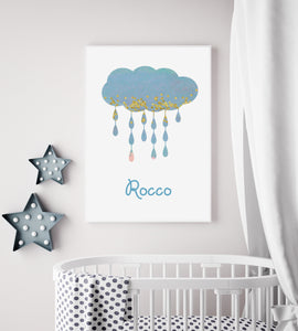 Personalised Cloud Nursery Print