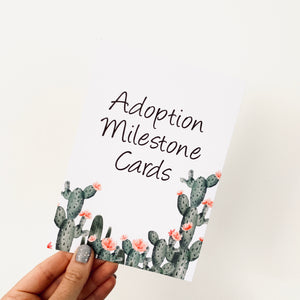 Cactus Adoption Milestone Cards