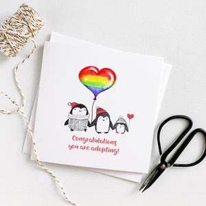 LGBTQ Penguin Congratulations You're Adopting