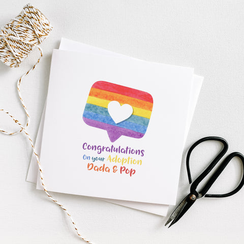 LGBTQ Social Media Heart Congratulations