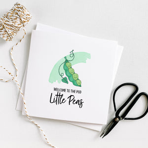 Welcome to the pod little pea - Adoption greeting card