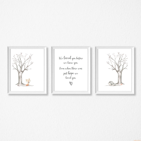 We loved you before we knew you - Adoption print