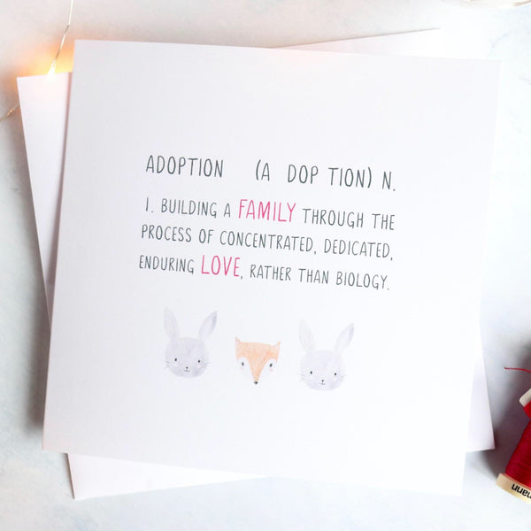 Adoption definition card