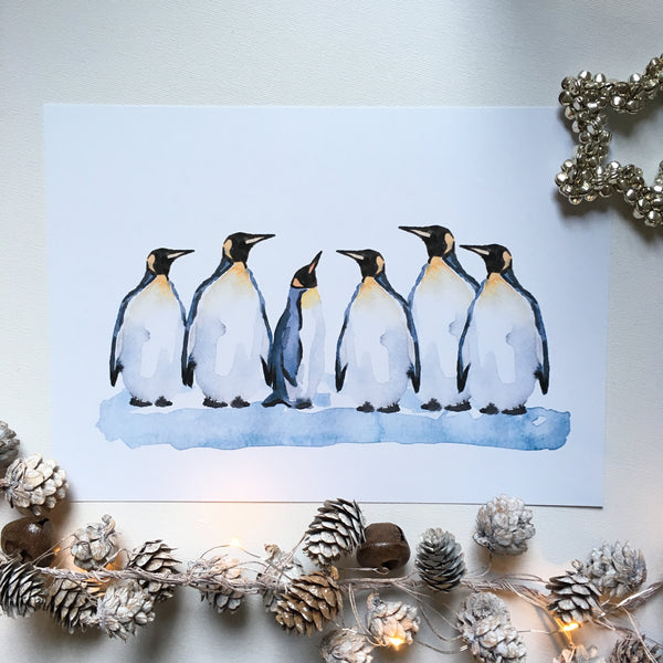 Family of penguins