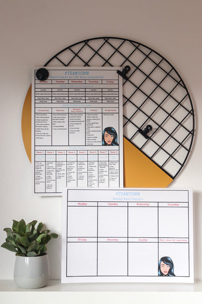 Bundle: The Organised Mum Meal planner & Team Tomm poster