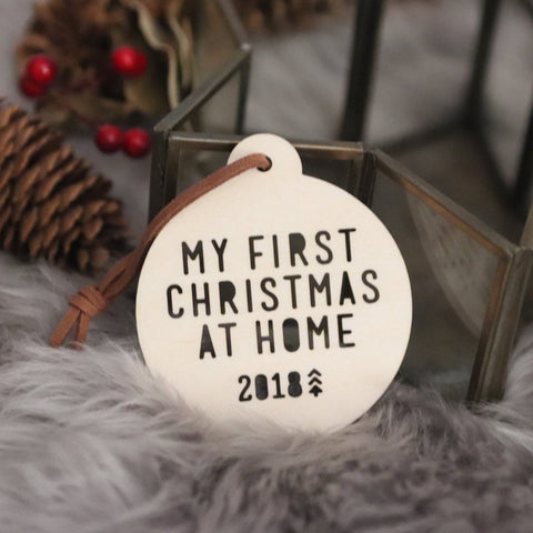 Adoption Bauble - My first Christmas at home