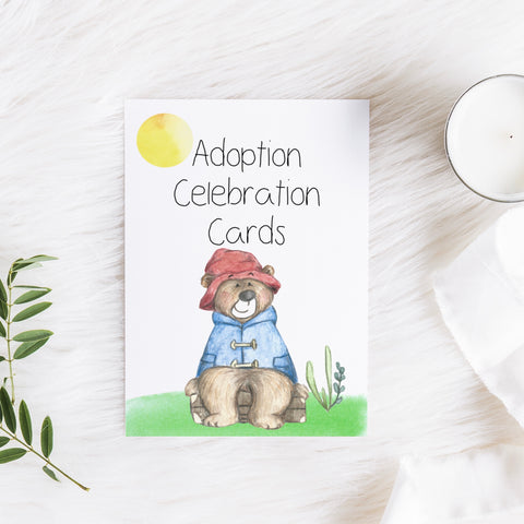 Paddington Bear Adoption Milestone Cards