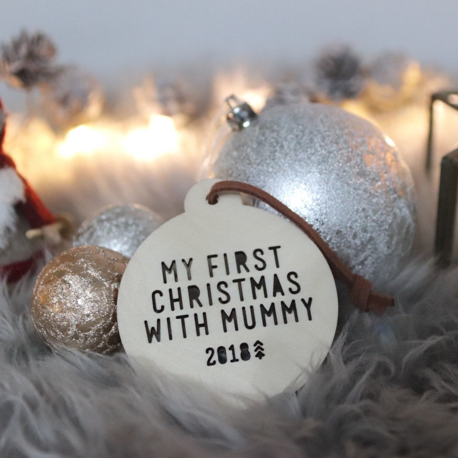 Adoption Bauble - My first Christmas with Mummy / Daddy