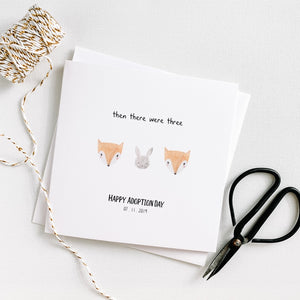 'Then there were 3' Adoption Celebration card