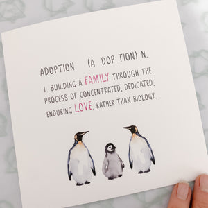 Penguins adoption definition card