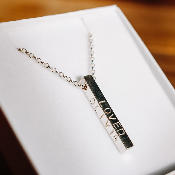 'Forever' drop necklace
