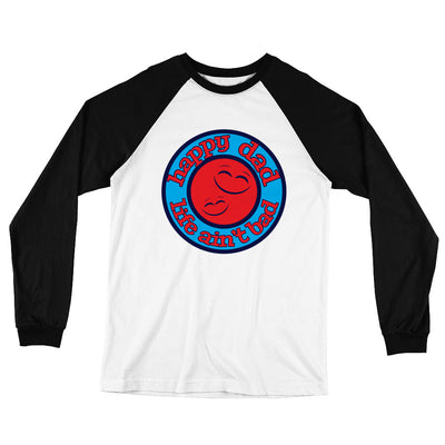 HDLAB Smiley Faces Red Color Logo Long Sleeve Baseball T-Shirt