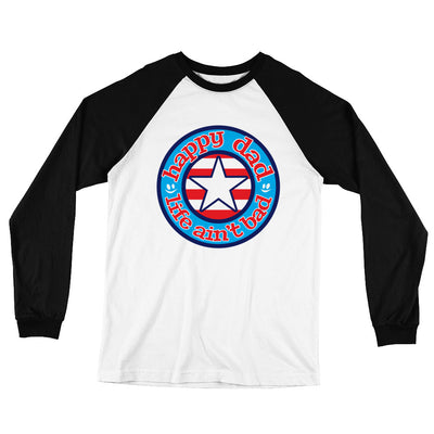 HDLAB Star & Stripes Color Logo Long Sleeve Baseball T-Shirt