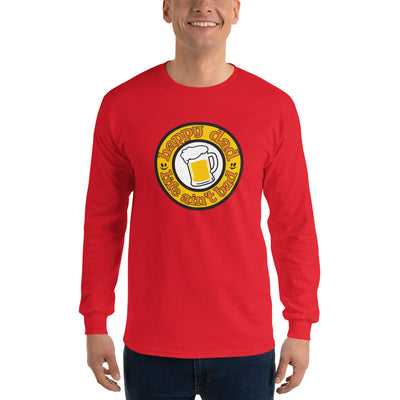 HDLAB Beer Logo front print Long Sleeve T-Shirt